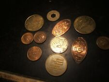 New Listing11 Medals - Tokens Elongated - Love - Sunco- Franklin-Hollrock Engineering