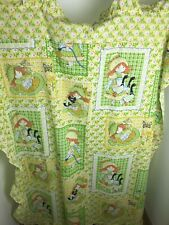 SEARS PERMA PREST YELLOW SHEET CRIB LITTLE GIRL RUFFLE TRIM COUNTRY VINTAGE (CAX