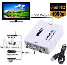 Mini Composite CVBS 3RCA AV to HDMI Video Converter Adapter 1080p Upscaler New