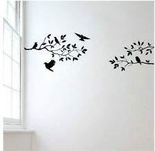 Tree Branch Birds Leaves Wall Sticker Removable Vinyl Home Decal DIY Decor Mural