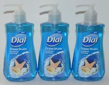 LOT OF 3 DIAL OCEAN SPLASH HYDRATING LIQUID HAND SOAP WASH 7.5OZ PUMP BLUE