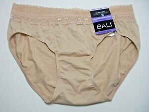 Bali Comfort Revolution Calzon Tipo Nude Lace Top Hipster Panty Panties Size 6/7