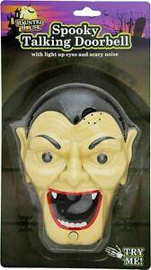 Spooky Talking Door Bell - Dracula - Halloween - Lights up & Sound