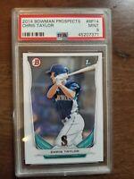2014 BOWMAN Prospects #BP14 Chris Taylor PSA 9 Mint MLB Dodgers Mariners