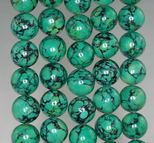 12MM GREEN TURQUOISE GEMSTONE ROUND 12MM LOOSE BEADS 16""