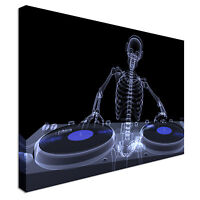 The Famous Skeleton DJ Canvas Art Cheap Wall Print Picture Any Size