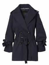 BANANA REPUBLIC WATER-RESISTANT TIE-SLEEVE TRENCH-NAVY NWT $198 SZ L  SOLD OUT