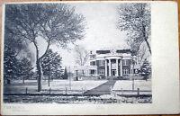1905 Postcard: Frank Fowler Residence, NYE Avenue - Fremont, Nebraska NE