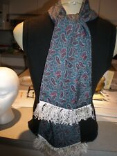 NEW Vintage Mens TEAL & BURGUNDY Paisley SCARF  IMAGE BY TOOTAL MADE IN UK