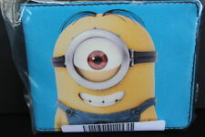Despicable Me Movie Minion Stuart Smiling Bi-Fold Wallet Card Slots Billfold NIP
