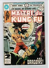 FRENCH COMIC FRANÇAIS EDITION HERITAGE CANADA  MASTER MAITRE KUNG FU  # 74 / 75