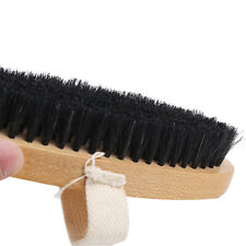 Long Oval Shoes Brush with Canvas Belt Shoe Boot Polish Shine Cleaning Tools