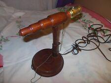 VINTAGE MID CENTURY DANISH MODERN WALNUT WOOD WALL SCONCE LIGHT LAMP 1960'S NICE