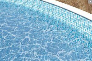 Poolfolie Ersatzfolie Innenhülle Poolauskleidung Mosaik Rundpool 460x120cm 5634