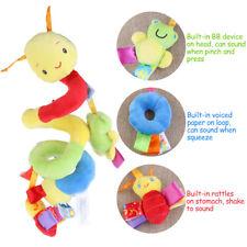 Baby Ring Bell Crib Cot Pram Hanging Rattles Spiral Stroller Car Seat Toy
