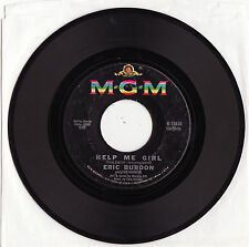 ERIC BURDON & THE ANIMALS - HELP ME, GIRL Very rare 1966 US GARAGE Single!
