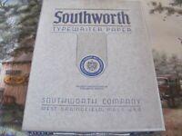 """Vintage Southworth Typewriter Paper 413 CF Racerase 8 1/2"""" x 11"""""""