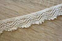 3 Meters TR813 Lace Cream 25mm Wide Trim Cotton