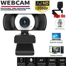 HD Webcam 1080P Kamera USB 3.0 2.0 Mit Mikrofon für PC Laptop Computer Mac OSLED