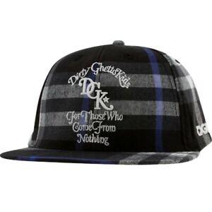 DGK From Nothing Plaid Snapback Cap (black)