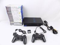 Ps2 Playstation 2 Bundle Fat Console + 2x Controllers + 20x Very Popular Games
