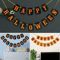 Halloween Decoration Bunting Garland Party Banner Spooky Decor Party AU E6X3
