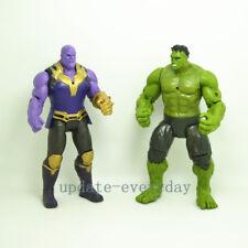"2 pcs Marvel 7"" Action Figures Toy Avengers: Infinity War Thanos Hulk Kids Gift"