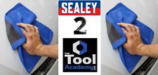 2 x Sealey Tools DETAILING Microfibre Backed Clay Bar Cloths - 30cm x 30cm