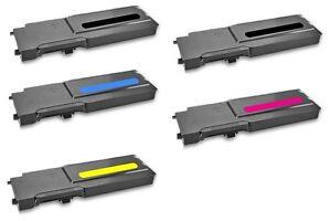 5 Toner für Dell  C3760 DN C3765 DNF C3760 N C3700 Serie
