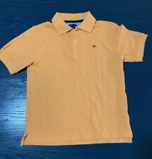 Boys Orange  Tommy Hillfiger Polo Shirt Size Small 8/10