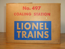 LIONEL O GAUGE # 497 COAL LOADING STATION INSERT AND BOX
