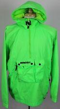 Obermeyer Caribou Vintage 80's Neon Green 1/2 Zip Pullover Ski Jacket Mens Large