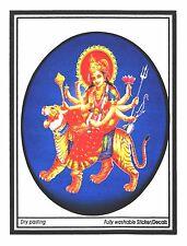 Traditional Large Amba Maa Paper Adhesive Sticker– Hindu Religious Sticker