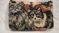 Ravini 9T Cat Print Tapestry Women's Cosmetic Pouch