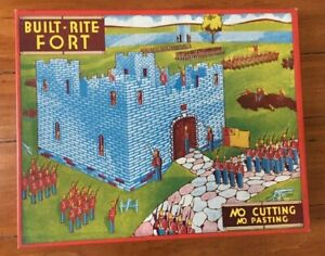WWII HOMEFRONT BUILT RITE FORT TOY SET NO. 16 COMPLETE ORIGINAL BOX