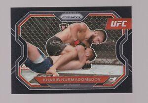 2021 UFC Panini Prizm KHABIB NURMAGOMEDOV Black Holo Prizm #1/1 - WOW SICK RARE