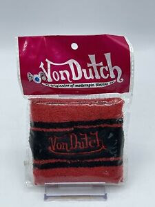 NEW NOS Von Dutch Sweatband / Wristband Authentic Black & Red - 1 Per Pack