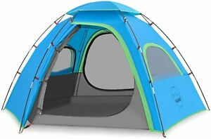 KAZOO Outdoor Camping Tent 3 Person Waterproof Camping Tents Blue