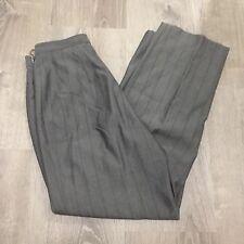 Amanda Smith Womens Pants sz 6 Gray Striped Career Trousers HH20