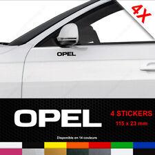 4 pegatinas OPC freno BREMSSATTEL Opel sticker Zafira Astra corsa Adam blanco