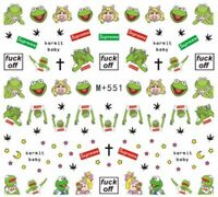"""Nail Art Stickers Water Decals """"F**k Off"""" Logo Rude Cartoon Characters  (M+551)"""