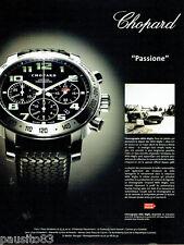PUBLICITE ADVERTISING  016  2005  Chopard montre chronographe Mille Miglia
