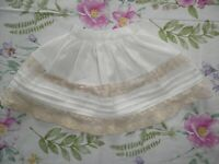 Antique German Doll Petticoat Half Slip - Beautiful Lace and Pintucking