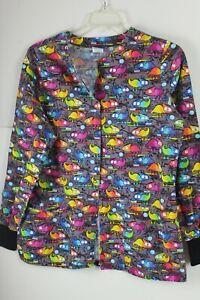 Lydia's Select Chameleon Lab Coat Dental Colorful Size Medium Long Sleeve