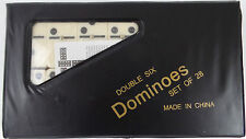 Travel Case Dominoes Double Six Set of 28 In Ivory Color