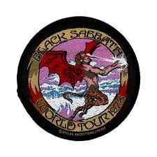 BLACK SABBATH PATCH WORLD TOUR 1978 ricamate ♫ Heavy Metal ♪ Ozzy Osbourne ♫