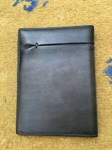 New Berluti Mens Grey Leather Passport Holder Wallet