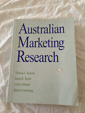 Australian Marketing Research: Textbook by Kinnear, Armstrong, Taylor,...