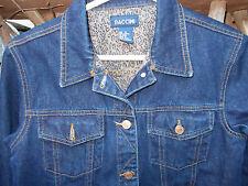 Denim Jean Jacket Womens 10-12 MEDIUM Blue Cropped Trucker Style Coat Baccini
