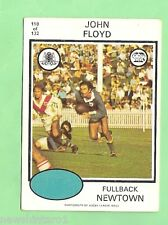1975 RUGBY LEAGUE CARD - #118.  JOHN FLOYD, NEWTOWN JETS
